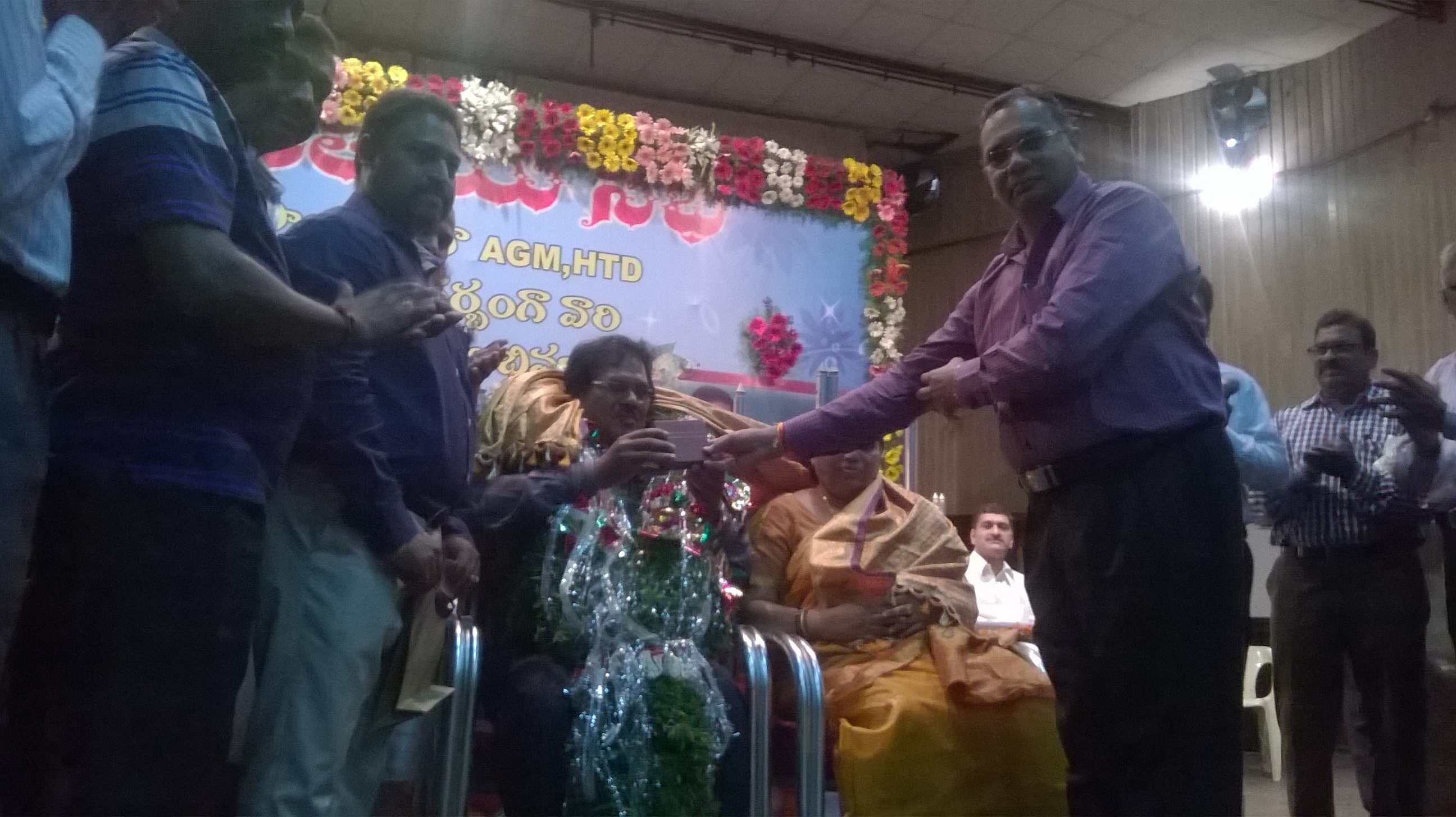 GS felicitating AGS AT HYD